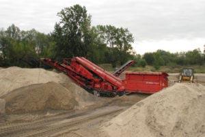 piasek płukany w piaskowni Warszawa