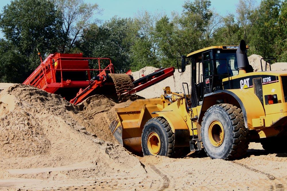 sortowanie piasku wiślanego w piaskowni Warszawa